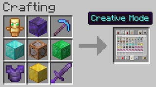Minecraft UHC but you can craft CREATIVE MODE...