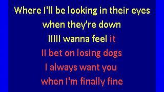 mitski  - I bet on losing dogs (karaoke)