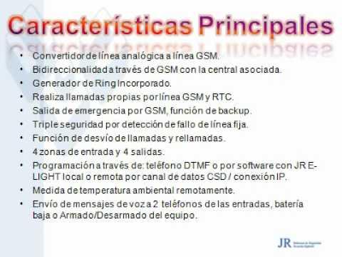 JR Sistemas deSeguridad PRESENTACION DE GPRS - MCP ESPAÑOL