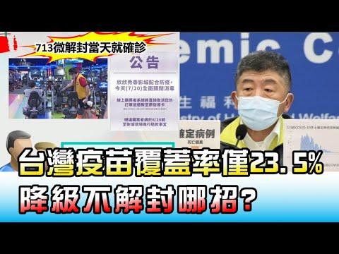 英美報復出遊! 台灣疫苗覆蓋率僅23.5% 降級不解封哪招? 國民大會 20210721 (3/4)