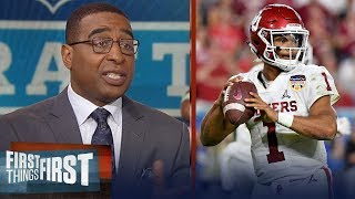 Cris Carter encourages Kyler Murray to pursue a NFL career over baseball | CFB | FIRST THINGS FIRST