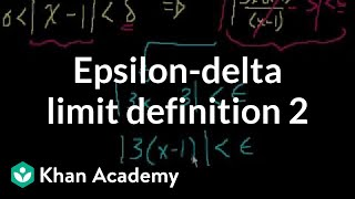 Epsilon Delta Limit Definition 2