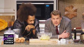 Reggie Watts Teaches James Corden a Thanksgiving Recipe