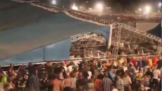 Indianapolis stage collapse compiled raw footage w/ State Fire radio audio