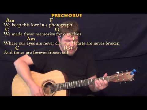 Photograph (Ed Sheeran) Strum Guitar Cover Lesson in C with Chords/Lyrics