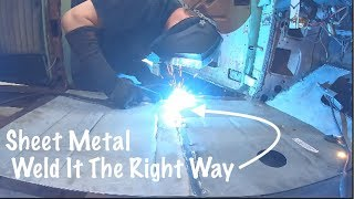 How To Properly Mig Weld Sheet Metal