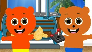 Mega Gummy bear visits Potato Chips Factory Cartoon Animation Nursery Rhymes