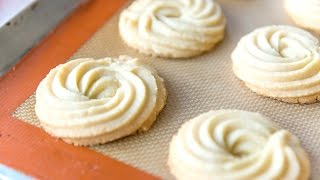 BUTTER SWIRL SHORTBREAD COOKIES - Christmas and Holiday Baking