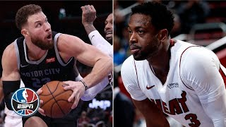Blake Griffin, Dwyane Wade go back-and-forth in Pistons' win vs. Heat | NBA Highlights