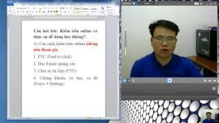 [SHARE] Xu Hướng Kiếm Tiền Online 2017 2018 UY TÍN NHẤT bạn NÊN THAM GIA
