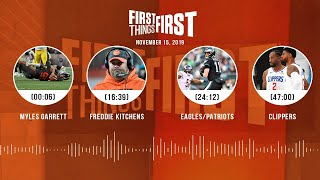 Myles Garrett, Eagles vs. Patriots, Clippers | FIRST THINGS FIRST Audio Podcast