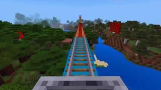 Minecraft - đường ray tàu lửa dài ^_^  Nhạc vui vẻ!