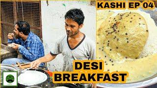 Desi Street Food Breakfast at Kedar Ghat with Veggiepaaji  | Banaras (Kashi, Varanasi) EP 04