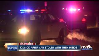 Man arrested after stealing car with two young kids inside from Indy neighborhood