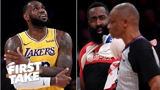 James Harden won't get 'superstar calls' against LeBron – Max Kellerman | First Take