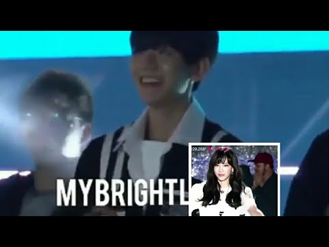Baekhyun reaction To Taeyeon In Asian Song Festival
