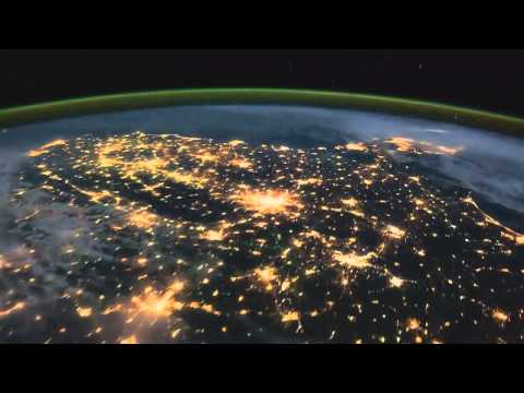 Because- the Beatles, Earth Time Lapse View from Space