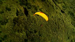 Stunning paragliding in the azores