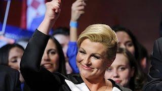 Croatia elects Kolinda Grabar-Kitarovic, its first female President