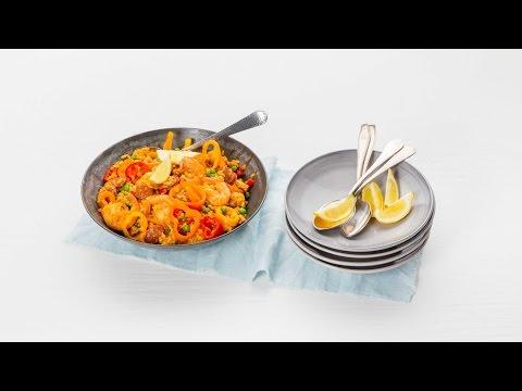 Paella met kip en gamba's – Allerhande