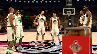 NBA 2K17 My Career - 3 Point Contest vs Curry, Durant, Klay! PS4 Pro 4K