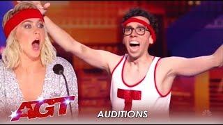 Jonathan Burns: Comedian, Cortortionist and AWKWARD! LOL!   America's Got Talent 2019