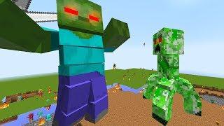 Minecraft - CREEPER TITAN KHỔNG LỒ ĐẤU VỚI ZOMBIE TITAN KHỔNG LỒ!!