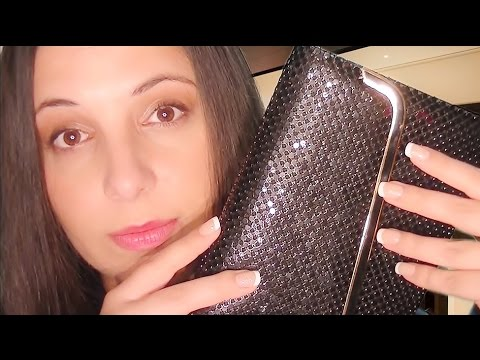 ASMR Binaural Consignment Store Role Play:  Purses and Bags of Different Textures for Relaxation