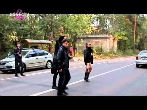 Оксана Почепа. RU новости - съемки клипа на песню Звезда