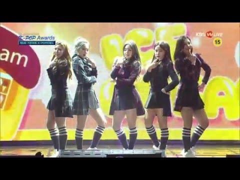 160217 Red Velvet (레드벨벳) - Automatic + Ice Cream Cake @5th Gaon Chart KPOP Awards 가온차트 어워드