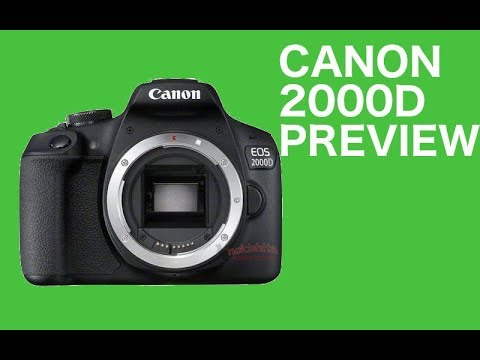 video Canon EOS 2000D Spiegelreflexkamera mit dem Objektiv EF-S 18-55 IS II Kit