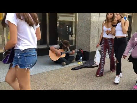 HOMELESS GUY SURPRISES PEOPLE AND STUNS CROWD!