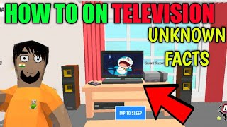 HOW TV WORKS || UNKNOWN FACTS OF DUDE THEFT WARS || HARSH IN GAME
