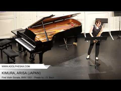 Dinant 2014 - Kimura, Arisa - First Violin Sonata, BWV 1001 - Presto by J.S. Bach