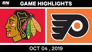 NHL Highlights | Blackhawks vs. Flyers – Oct. 04, 2019