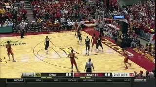 Iowa State Men's Basketball Highlights vs. Iowa (2015)