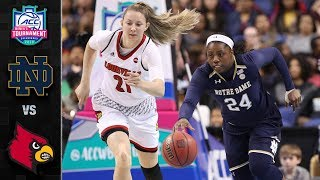 Notre Dame vs. Louisville ACC Women's Basketball Championship Highlights (2018)