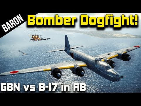 War Thunder Heavy Bomber Dogfighting!  G8N1 DeathStars vs B-17s! (War Thunder 1.43)
