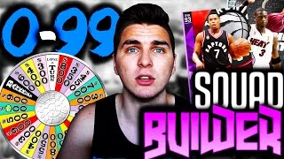 SPIN THE WHEEL OF RANDOM PLAYER NUMBERS! NBA 2K16 SQUAD BUILDER