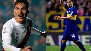 Riquelme y los hinchas de Boca Juniors quieren a Paolo Guerero con la camista Azul y Oro