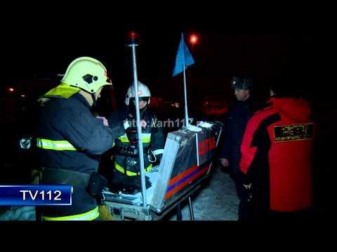 TV112 Пожар в 2 х этажном доме на ул Театральной в Архангельске 19 02 2015