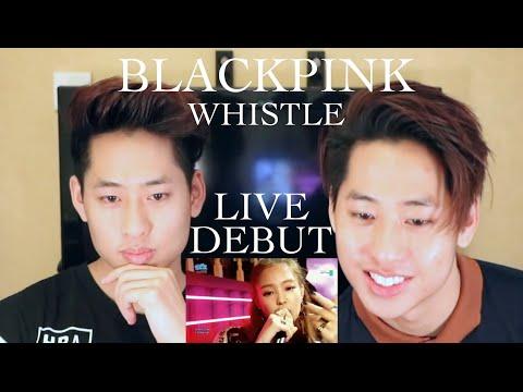 BLACKPINK - Whistle SBS Inkigayo Reaction 블랙핑크 휘파람 (Debut Stage)