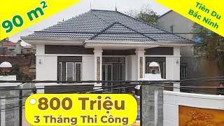 Mẫu thiết kế biệt thự nhà vườn 1 tầng mái thái 90m2 tại Tiên Du - Bắc Ninh