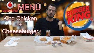 BURGER KING VODAFONE MENÜ - Ne Söyledik Ne Geldi | King Chicken Menu vs Cheeseburger