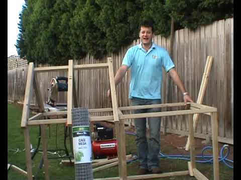 how to build a rabbit hutch youtube. Black Bedroom Furniture Sets. Home Design Ideas
