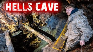 OVERNIGHT In World's Most Dangerous Cave | Dont Look Down!