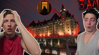 WE STAYED AT THE MOST HAUNTED HOTEL IN OUR CITY! (WHAT ARE THEY HIDING!)