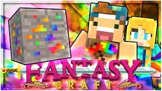 CRAZY RAINBOW ORES! | EP 2 | FantasyCraft (Minecraft Modded Survival)