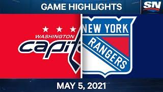 NHL Game Highlights   Capitals vs. Rangers - May 5, 2021