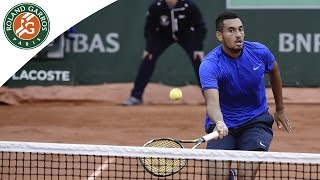 Nick Kyrgios v Marco Cecchinato Highlights - Men's Round 1 2016 - Roland Garros